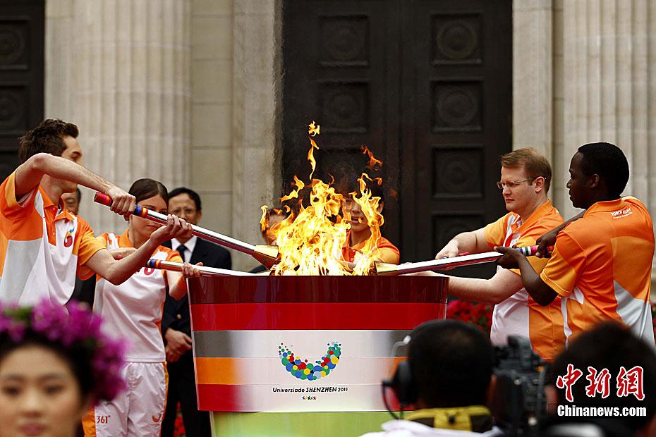 L'allumage de la flamme de l'Universiade de Shenzhen se déroule à l'Université Tsinghua(1)