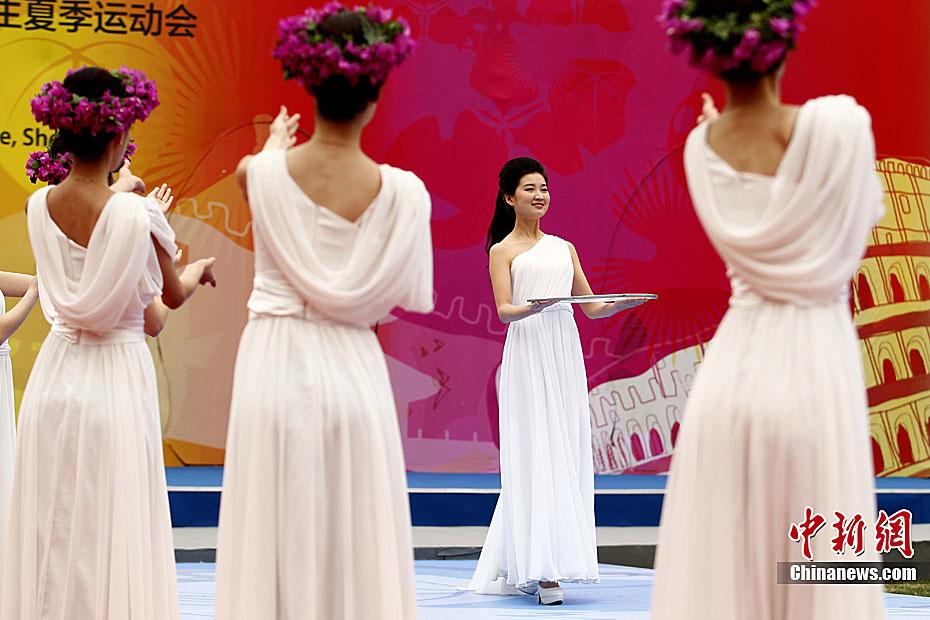L'allumage de la flamme de l'Universiade de Shenzhen se déroule à l'Université Tsinghua(6)